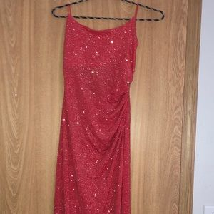 Sparkling red long prom/formal dress